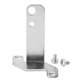 Vertical mounting foot bracket for valves with outlets on the body