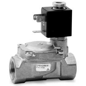 Indirectly operated 2/2 NC solenoid valve