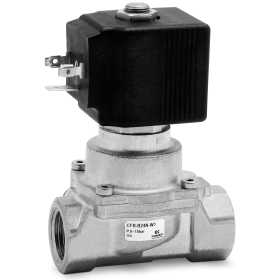 Directly oper. 2/2 NC solenoid valve with linked diaphragm