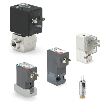 Directly and indirectly operated 2/2 - 3/2 solenoid valves