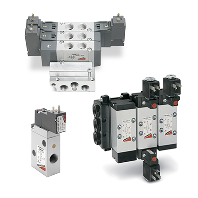 Solenoid, pneumatic and manifold valves