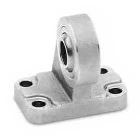 90° male trunnion bracket with swivel ball joint Mod. ZCR